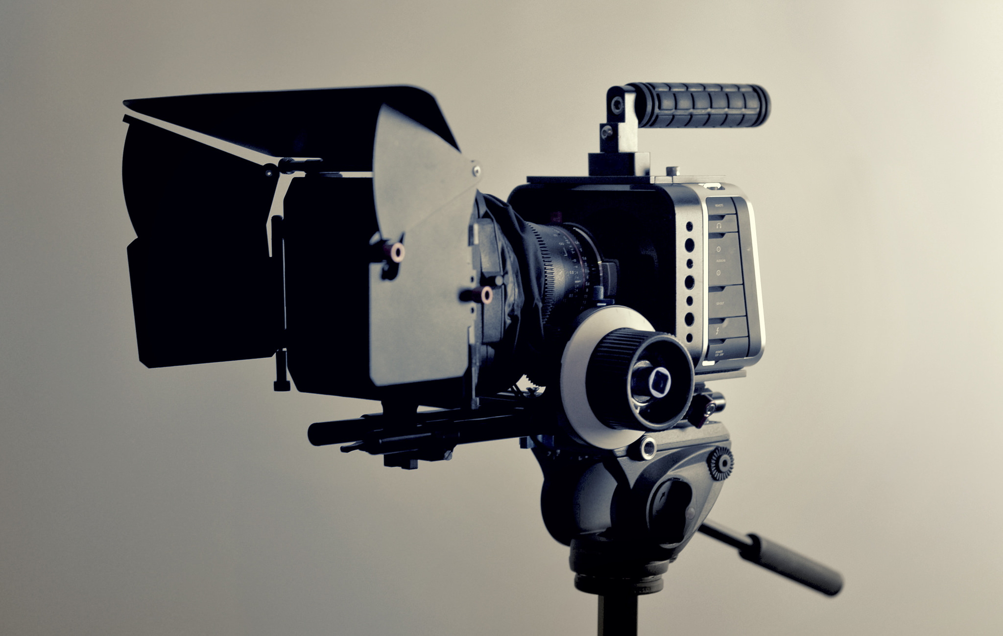 A camera used in filmmaking.