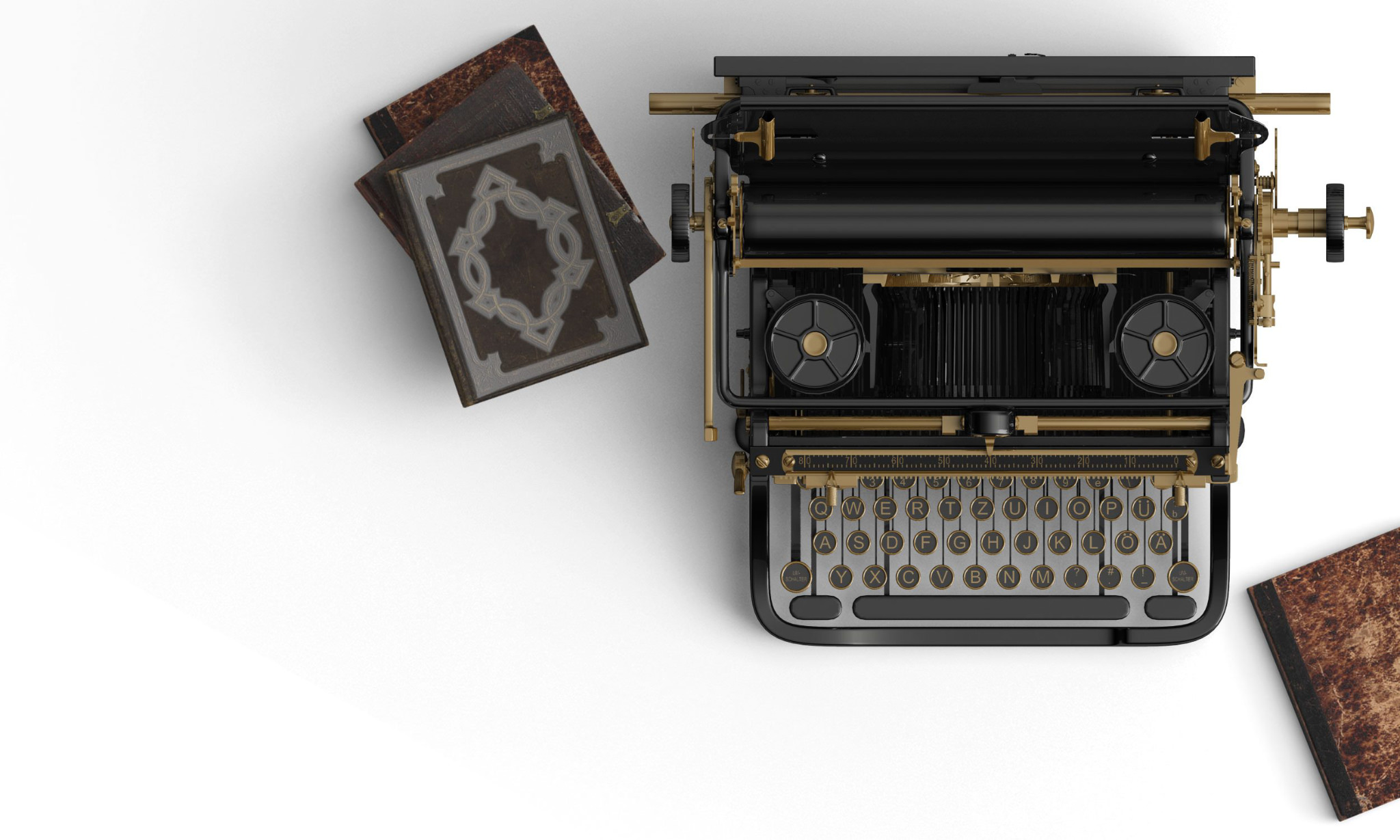 An old fashioned typewriter that symbolises a writing resource.